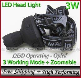 Wholesale Led Lens Lumen - Wholesale-SAVE for camping Climbing Fishing Hiking, high lumen 3W headlamp, Big Lens+3 working mode+ zoomable led flashlight head light