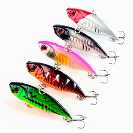 Wholesale Rattle Lures - 2015 Limited Direct Selling Fly Fishing Peche Barbed Vib Fishing Lures Hooks 6.5cm 10.4g Sea Minnow Bait Rattling Jerkbaits for Pike Catfish