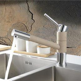 Wholesale High Quality Sink Taps - High Quality Blancos Brass Sandbeige & Matte Black pull out Kitchen Faucet Longreach Sink Mixer Tap