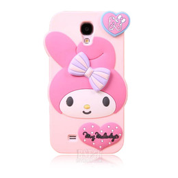 Wholesale Galaxy S4 Case Cartoon - Wholesale-Fashional new arrival cute cartoon model silicon material Little Rabbit shape cover Case for Samsung Samsung Galaxy S4 i9500