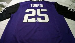Wholesale Frog Custom - Men #25 Replica Purple KaVontae Turpin TCU Horned Frogs Alumni College Jersey or custom any name or number jersey