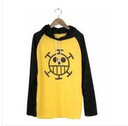 Wholesale Trafalgar Law Hoodies - hot sale One Piece Cosplay Trafalgar Law long Sleeve Hoodies autumn yellow&black 100% cotton free shipping some countries