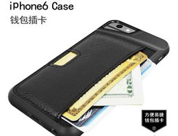 Wholesale Rubber Wallets - For iphone 6 plus 5s Cases Ultrathin Hybird Rubber Leather Cover For Apple Iphone 6 Luxury Wallet And Card Holder Shell