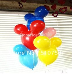 Wholesale Latex Balloon Animals - Free shipping Mickey Mouse Shape Latex Balloons Animal Balloon Birthday Party Wedding Christmas Decoration Kids Toy