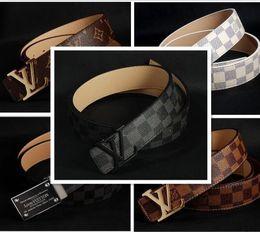 Wholesale Men S Fashion Gold Chain - 2017 new hip brand buckle l designer belts for men women genuine leather gold cinto belt Men's handbag 111