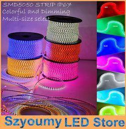 Wholesale Tube Type Flexible Led - Super bright 5050 SMD LED strip 220V- 240V high voltage Tube type Waterproof flexible SMD led strip 60leds M With PLUG