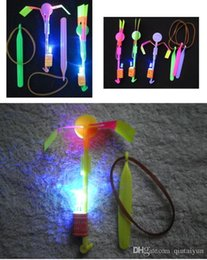 rc mini helicóptero envío gratis Rebajas El precio de fábrica LED de luz de flash Flying accionado elástico Flecha honda disparar hasta Helicóptero Y91 niños paraguas helicóptero de juguete