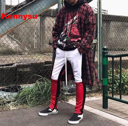 Wholesale Cotton Track Pants Men - 2018 cool newest hip hop fear of god X ComplexCon jerry limited edition unisex men motocross track pant cotton joggers