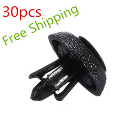 Wholesale Nylon Sunglasses - 30Pcs High Quality 7mm Nylon Bumper Clip Grille Push-Type Retainer Clips For Toyota & Lexus FREE SHIPPING