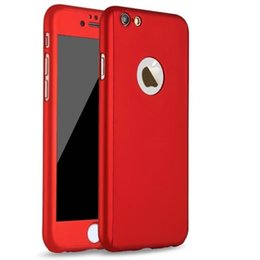 Wholesale iphone red screen protector - 360 degree Full body Case + Front Clear Glass Screen Protector + Hard PC Back Case with retail for Iphone 6 6s   Iphone 6 Plus