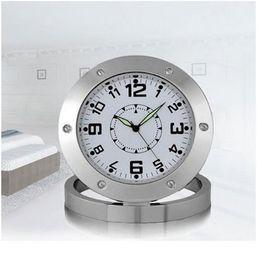 Wholesale Hidden Motion Video - Spy Nanny Clock Cam 640*480 VGA Hidden Bathroom Camera Motion Detection Mini DVR Voice Recorder Video Camcorder Micro Camara
