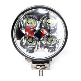 Wholesale Truck Yellow Lights - 2PCS 12W LED WORKING LINGHT High Power Car Offroad Round Mini 4X3W 4WD Truck Machine 12V 24V Driving Fog Lamp 18W