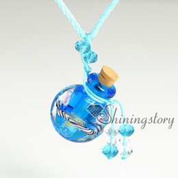 Wholesale Murano Glass Green - aromatherapy jewelry scents handcrafted glass essential oils jewelry murano glass jewelry pendant perfume pendant diffuser vintage perfume b