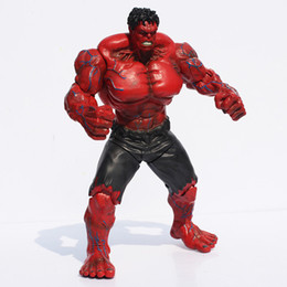 "Wholesale action figures collection - Red Hulk Action Figure The Avengers 10"" PVC Figure Toy Hands Adjusted Movie Lovers Collection Free shipping"