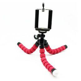Wholesale Digital Camera Mini Tripod - Free Shipping Mini 16CM Digital Camera Stand Flexible Leg Tripod Grip Octopus Bubble Pod Monopod Mobile Phone Holder Clip 55~85mm Free Ship