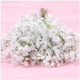 Wholesale Gypsophila Flowers - 2017 New Arrive Gypsophila Baby's Breath Artificial Fake Silk Flowers Plant Home Wedding Decoration