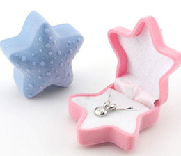 Wholesale Jewelry Box Designs Styles - Star Design Ring Box For Engagement Wedding Princess Earrings Pendants Jewelry Boxes For Wedding Gift Box 10Pcs Lot 2016 March Style