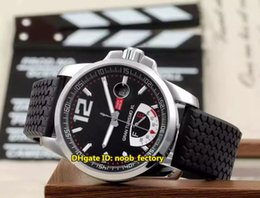 Wholesale Sports Power Watch - New Luxury Brand High Quality AAA GT XL Power Reserve Automatic Men's Watch 168457-3001 Black Dial Rubber Strap Gents Sports Watches CD18