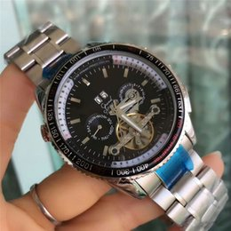 Wholesale Gold Sub Watch - All sub-dials work AAA mens watches luxury brand Mechanical Automatic Leather & Stainless Steel band fashion wrist watch for men relogios