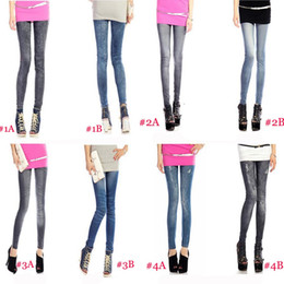 leggings hot pink Promo Codes - Wholesale-Free shipping HOT Women's Fashion Leggings Stretchy Skinny Leg Pants Jean Jegging 6pcs lot D001