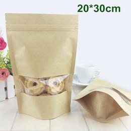 2019 sacos de papel janela clara DHL 20 * 30 cm (7.9 * 11.8