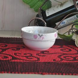 Wholesale Ceramic Soup Cups - Ceramic 10 Set bowl simple European cup bone china wholesale 4.5 inch rice bowl soup 3710 #