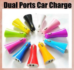 Wholesale iphone5 port - 2.1A 5v USB Universal Chargers 2 Ports Dual Port Car Charger for iPad iphone5 5S iPod lenovo Samsung galaxy s4 s5 huawei smartphone CAB016