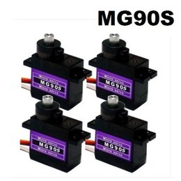 Wholesale Micro Servos - Free Shipping Wholesale 4pcs Lot MG90S 9g Metal Gear Digital Micro Servos 9g for 450 RC helicopter Plane Boat Car