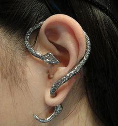 Wholesale Cuff Earrings For Men - Vintage gold silver Color Punk Metal Tone ear cuff Snake earring ear cuff earrings Jewelry For Women Men