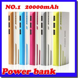 Wholesale External Charger Phone - New Style Romoss 20000mAh Power Bank 3USB External Battery With LED Portable Power Banks Charger For iPhone 6s Samsung s6 Android Phones