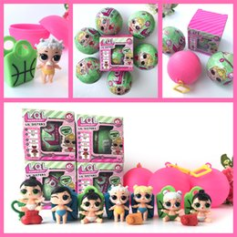 Wholesale Novelty Bottles - LOL Surprise Dolls Series 2 Lil Sisters Ball Dress Up Toys Christmas Gift For Girls Unpacking Doll Surprise Ball IMMEDIATELY DELIVERY
