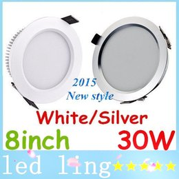 Wholesale High Power Led Ceiling Fixtures - led Ultra Bright 30W 2500 Lumens Led 8 Inch High Power Led Recessed Fixture Ceiling Lighting 160 Angle Warm Cool White