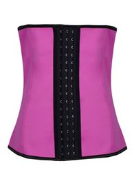 Wholesale Wholesale Latex Body Shapers - Sexy Body Shapers Latex Waist Trainers Cincher Rubber Steel Boned Underbust Corsets For Women 9 Styles XS-6XL C8478