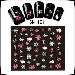 christmas snowflakes nail 3d 2018 - Can Mix design High Quality 3D Nail Art Tips Christmas Snowman Snowflakes Design Decals Girl Nails Stickers Accessories