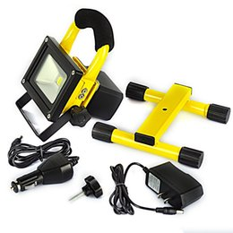 Wholesale Work Light Rechargeable Cordless - Yellow Waterproof 10W 20W Rechargeable LED Flood Spot Work Light Lamp Fishing Cordless Free Shipping
