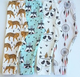 Wholesale Tiger Leggings Children - 2015 Autumn Children Girls Harm Pants Cartoon Printing Fox Tiger Panda Baby PP Pants Toddler Boys Girls Leggings Tights B3911