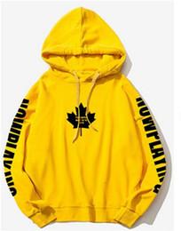 Hoodie con cappuccio giallo online-Felpe con cappuccio autunnali Justin Bieber fear of god Scopo Tour Giallo Uomo Donna Felpa con cappuccio in pile caldo