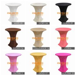 Argentina Nuevo diseño Lycra Spandex cubierta de tabla de cóctel mantel para bodas y eventos decoración del partido envío gratis Suministro
