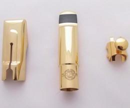 Wholesale Alto Sax Mouthpieces - SELMER A Series ALTO E Flat Eb Saxophone Metal Mouthpiece ALTO Sax # 5,6,7,8,9 for Saxophone Beginner GOLD Plated Sax