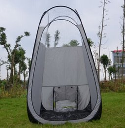 Wholesale Tan Tents - Sunless Silver grey color pop up Spray Tanning tent with PVC roof top quality popular in Eruopean & Ameriacan market