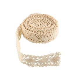 Wholesale Bridal Lace Yard - Vintage Ivory Cream Lace Bridal Wedding Trim Ribbon Cotton 3 Yards Beige Durable*Lace Trim*decorate