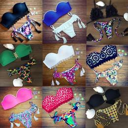 Wholesale Maillot Bain Push Up - Bikini Sets 2016 New Triangle Bikini Sexy Push Up Swimwear Ladies Women Swimsuit Swimwear Bathing Suit Brazilian Maillot De Bain 13 styles