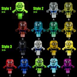 Wholesale Cigar Mouthpiece Plastic - small yellow people Drip Tip Adapter Electronic Cigars EGO 510 Drip Tips With Minions Colorful Luminous Plastic E cigars Mouthpiece DHL free