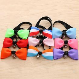 Wholesale Wholesale Fall Clothing - Pet Necktie Fashion Cute Dog Puppy Cat Bow Tie Clothes Decoration Accessory Multi Color 1 5an C R