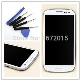 Wholesale Touch Screen S3 Frame - Wholesale-White LCD Display For Samsung Galaxy S3 i9305 Touch screen with digitizer Assembly + Bezel Frame + Free Tools , Free shipping!!!