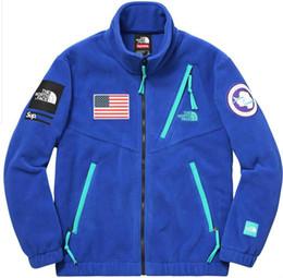 Wholesale Turtle Neck Hoodies Women - 2018 north 17ss Trans Antarctica Jacket Men Women Coats Fashion Outerwear Top Quality men s clothing Black S~XL box logo hoodie