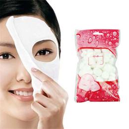 Compresse per pelli online-Outtop 100pcs Cura della pelle Maschera compressa per il viso fai da te Compressa di carta Trattamento maschera Masque Best Seller # 23
