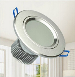 Wholesale Recessed Led Fixtures - Hot !! 3W Frosted Glass Antifog Bathroom LED Recessed Ceiling Down Light Fixture Lamp 85-265V 1pcs
