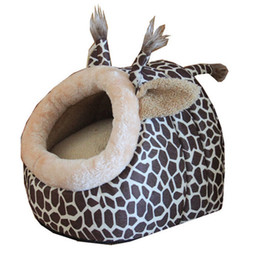 Wholesale Leopard Dog Beds - new Animal World lovely pet nest top selling dog house pet supplies Teddy doghouse deer leopard style cats bed