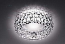 Wholesale Acrylic Ceiling Lamp Chandelier - Foscarini Caboche ceiling Lamp LED Chandelier light by PATRICIA URQUIOLA + ELIANA GEROTTO Clear Transparent Acrylic Ball ceiling light